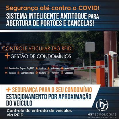 Controle veicular RFID, nenhum contato físico, automático e prático